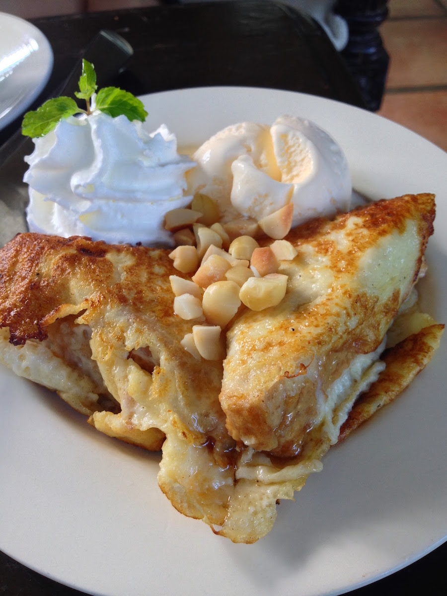 French toast with ice cream