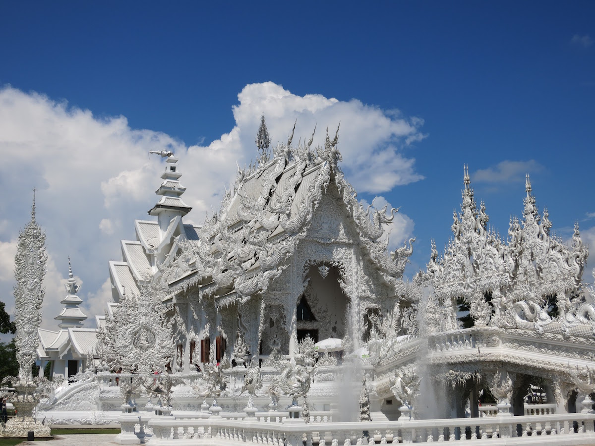 White temple central building
