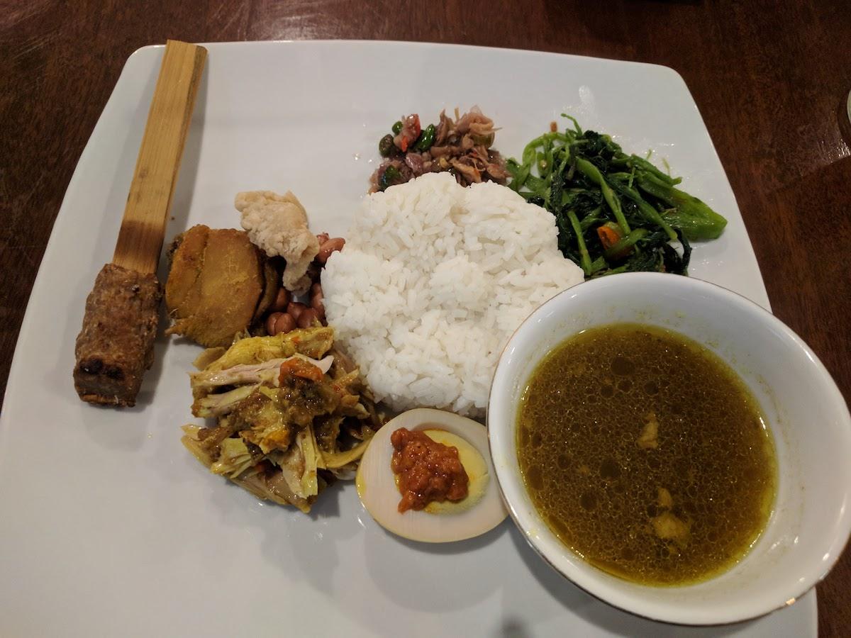 Halaal nasi campur from Dapoer Bali Restaurant in Denpasar